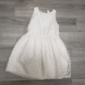 Sweet White Carters Dress Size 7